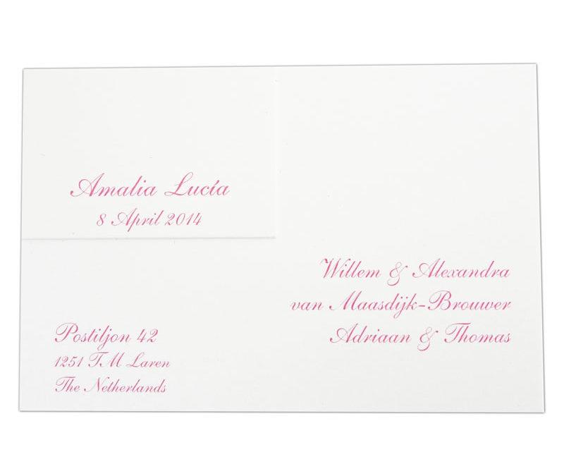 Geboortekaart voorkant