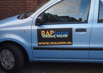 Sticker voor op auto